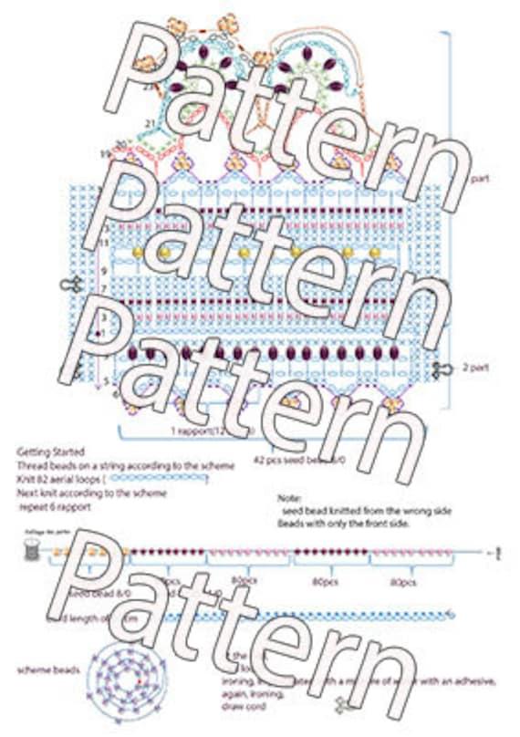 Patrón ganchillo pulsera brazalete 4 tutoriales PDF archivo | Etsy