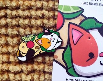 Purrito Enamel Pin - Cat Enamel Pin - Lapel Pin - Calico Cat Hard Enamel Pin - Cute Pin - Cat Pins - Chunky Kitten Pin - Kitty Pin - Burrito