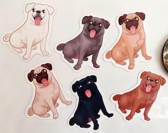 7f5d71eec4b Pug Handmade Magnets - Apricot Pug - Fawn Pug - Silver Pug - Black Pug -  White Pug - Chocolate Pug - Pug Lover Gift - Dog Fridge Magnets