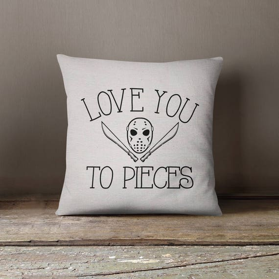 Friday The 13th Love You To Pieces Jason Voorhees Etsy