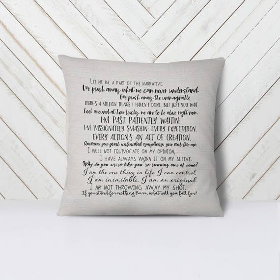 18x18inch pillow cover broadway musical