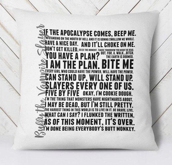 Vampire Slayer pillow cover