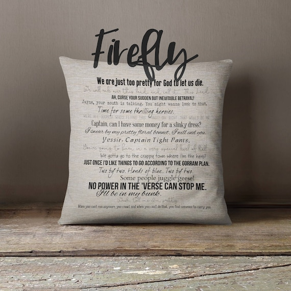 Firefly Quotes | Firefly Tv Quote Pillow Cover 18x18inch Movie Quotes Etsy