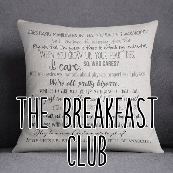 The Breakfast Club movie quote pillow cover - 18x18inch pillow cover -  movie quotes - breakfast club movie - eco friendly inks
