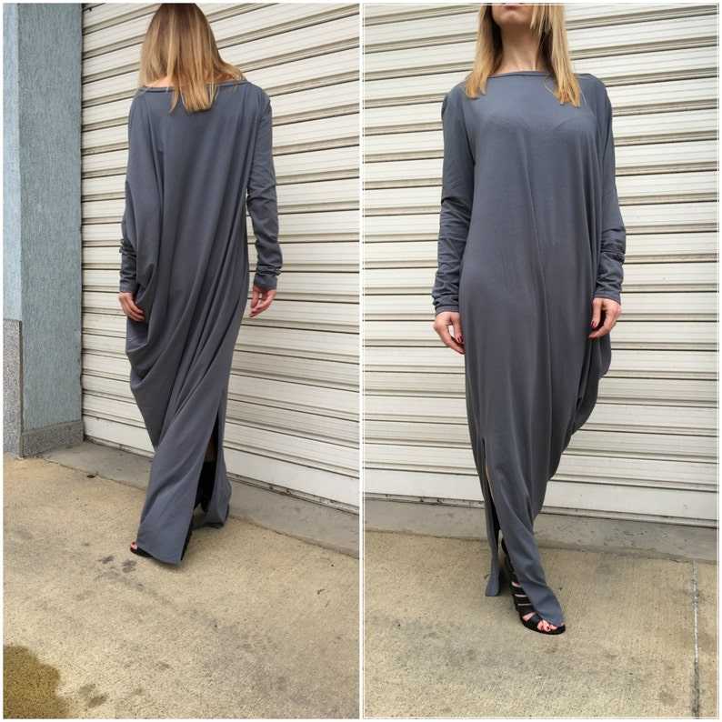 51730d21ce62 Grey Maxi Dress / Loose Kaftan / Elegant Jersey Dress / Long | Etsy