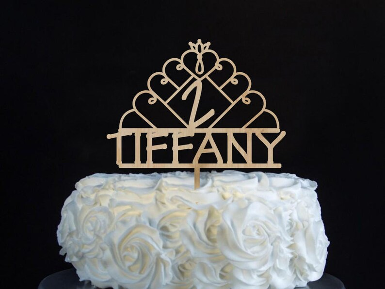Princess Birthday Cake Topper With Name And Age