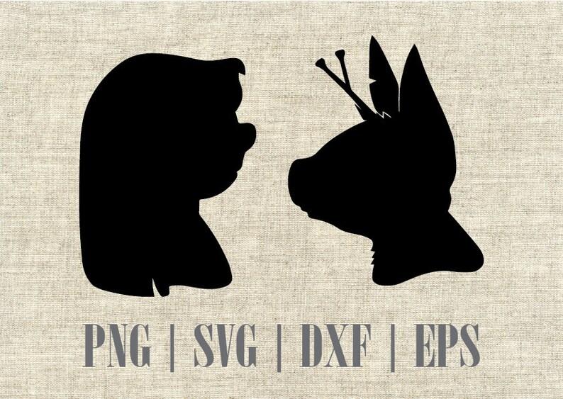Disney Lilo And Stitch Silhouette Svg Cut File Digital Etsy
