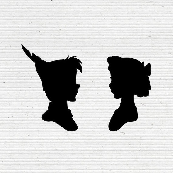 Peter Pan And Wendy Silhouette Svg Cut File Digital Clipart Etsy