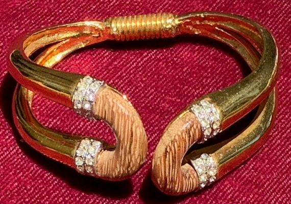 Kenneth J Lane Exotic Wood Bracelet