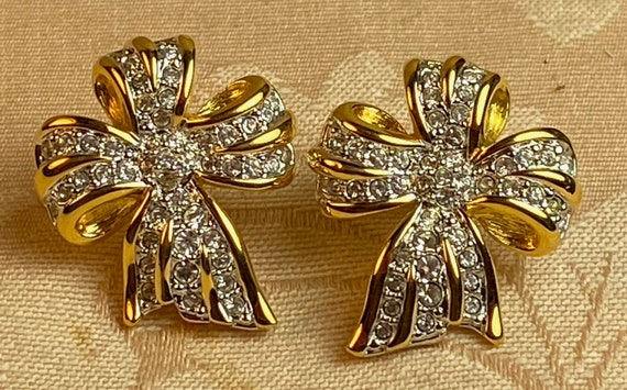 SWAROVSKI Crystal Pussy Bow Earrings