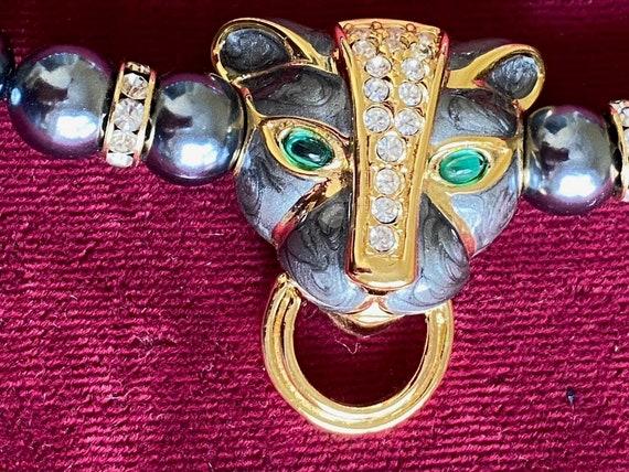 Kenneth J Lane Egyptian Leopard Necklace