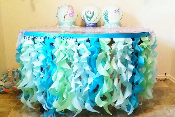 Under The Sea Table Skirt Or Photo Backdrop Tissue