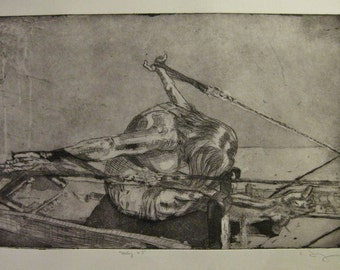 Rowing, v.3 - female figure rowing on the reformer