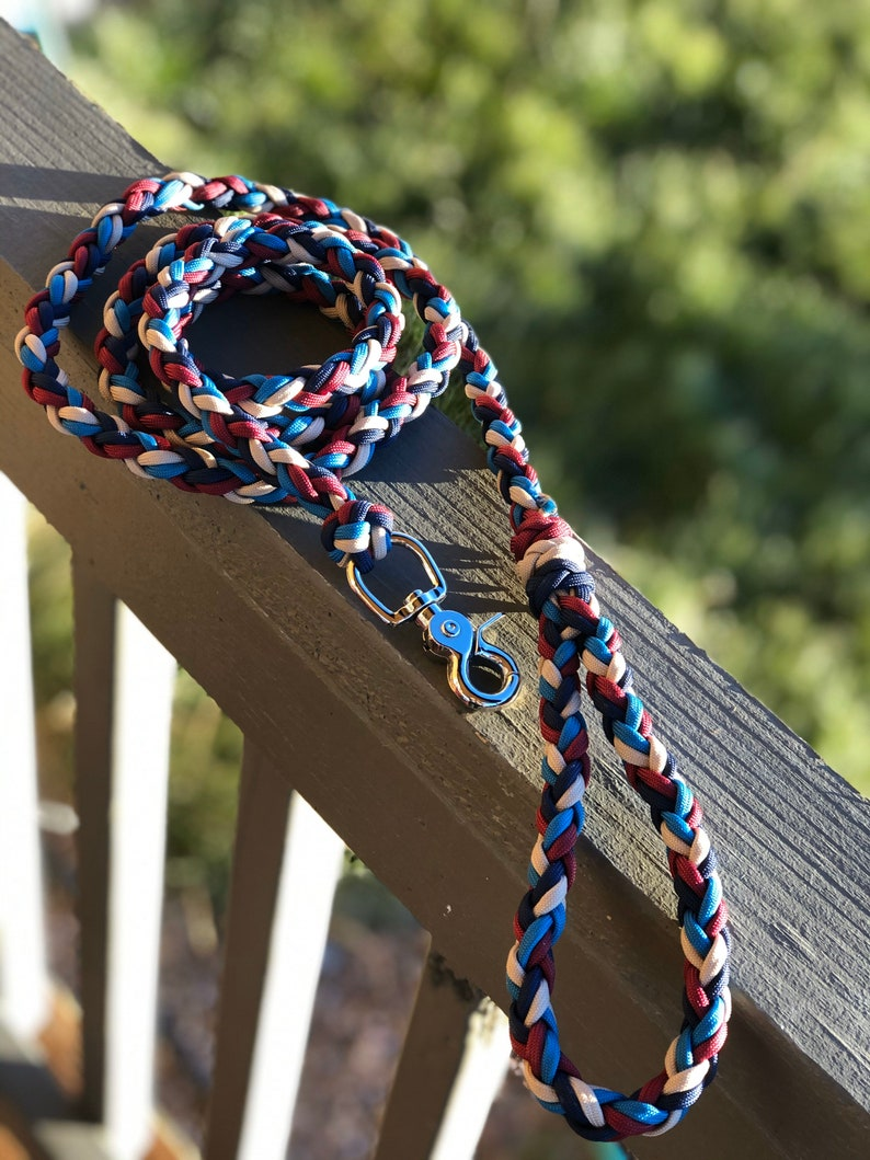 Martingale Dog Collar Braided Diamond Rope And Paracord Wide Training Collar For Medium to Extra Large Dogs WITH MATCHING LEASH