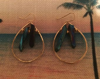 Gold filled teardrop hoops