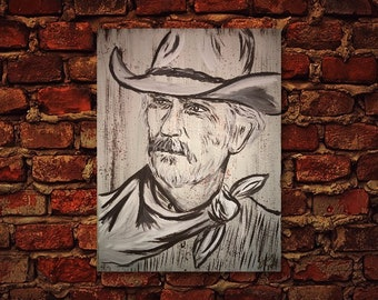693877bc4f3aa Gus McCrae Lonesome Dove Canvas Painting   Lonesome Dove Art   lonsome dove  decor  western decor