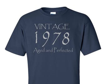 40th Birthday Gift Vintage 1978 Aged And Perfected T Shirt
