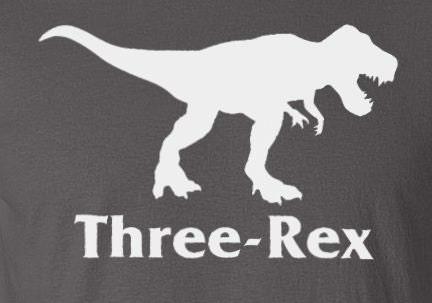 Turning 3 Dinosaur Birthday Party Three Rex