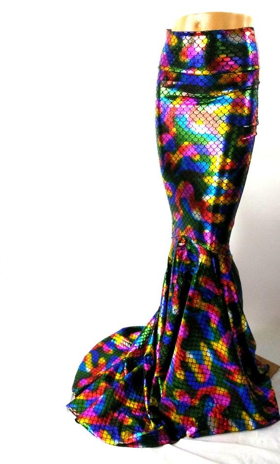 chaussures de sport 07750 4df26 Arc en ciel Ariel Dragon sirène jupe poisson queue costume, jupe de fée  cercle EDM Festival Burning man Jtree