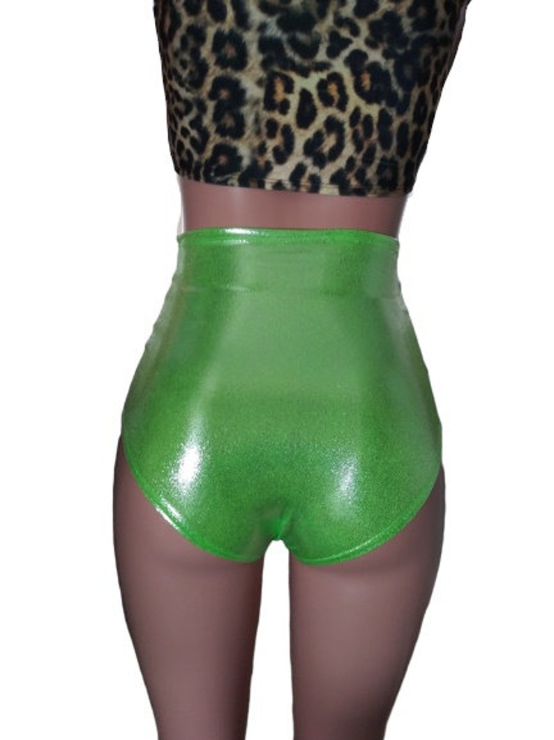 Lime Peridot High waist bottoms shorts Hoop Performance Aerial Zanza EDM Festival EDC Dance Clubwear Rave Wear
