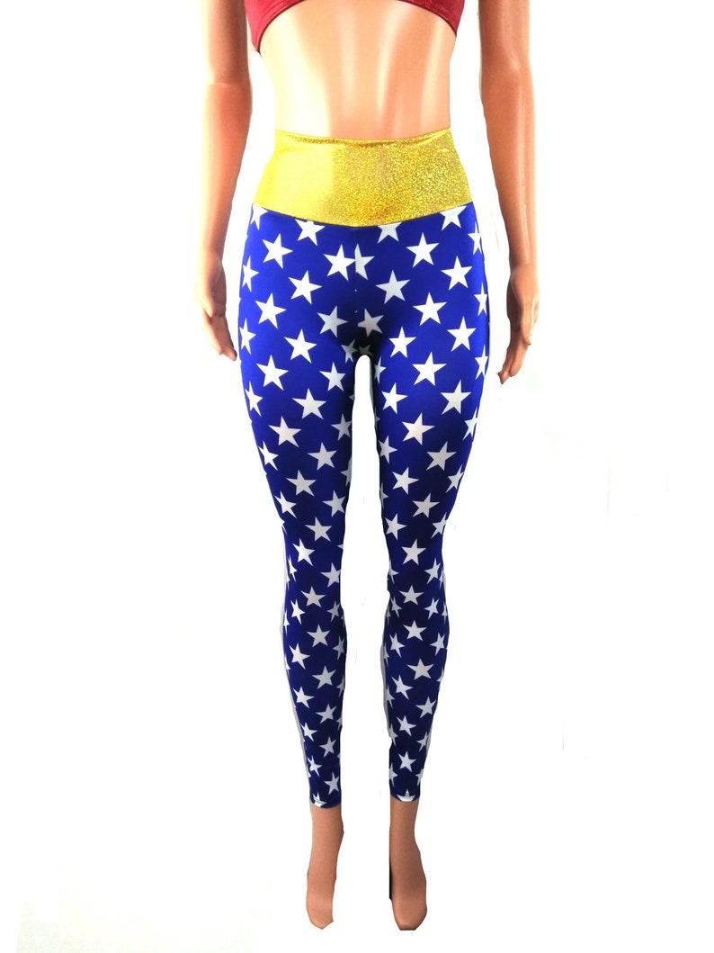 3c1f7940c0c91 Wonder woman leggings super hero festival Rave Halloween   Etsy