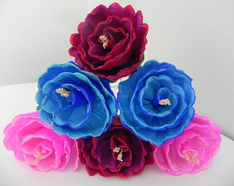 Mexican paper flowers etsy mexican paper flowers set of 6 multicolor we make special orders 012 mightylinksfo