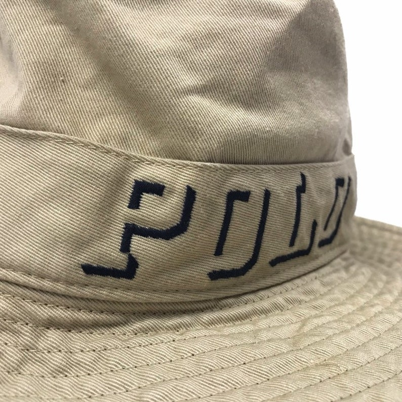 ab324ac0ec2af Vintage Polo Ralph Lauren Bucket Hat Khaki Small spell out