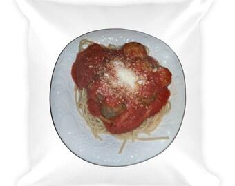 Spaghetti Square Pillow