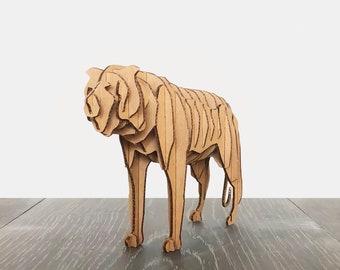Cardboard Animal Tiger