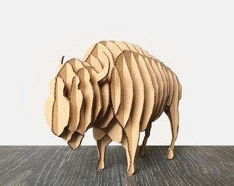 Cardboard Animal Bison