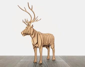 Cardboard Animal Reindeer