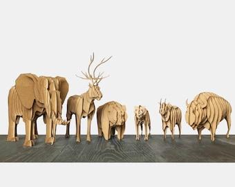 Cardboard Animal group