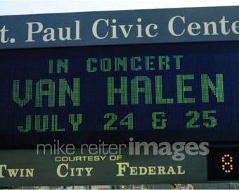 """Van Halen 1979 Tour 5 x 7"""" St. Paul Civic Center Signage Greeting Card Set"""