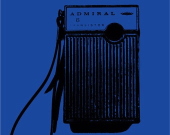 Rock and Roll Transistor Radio Art Print with Color Variations