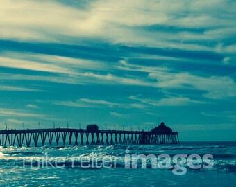Imperial Beach Pier Photograph or Greeting Card Set Art Print San Diego California