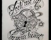 Items Op Etsy Die Op Original Heart Lock And Key Drawings Lijken