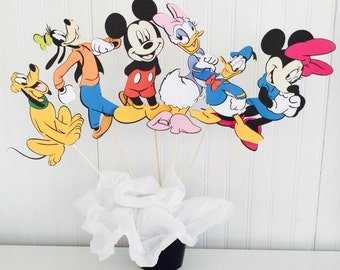 6 Piece Mickey Mouse Clubhouse Centerpiece Birthday Party Decor Decorations Topper