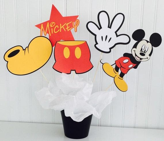 5 Mittelstuck Mickey Mouse Mickey Mouse Geburtstag Micky Etsy