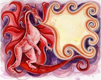 """FireDrake 5 x 7"""" impression du livre, mythes de la légende."""