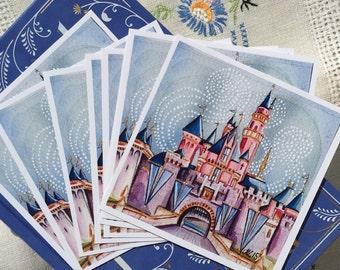 "Sleeping Beauty Castle 4x4"" Mini Print."