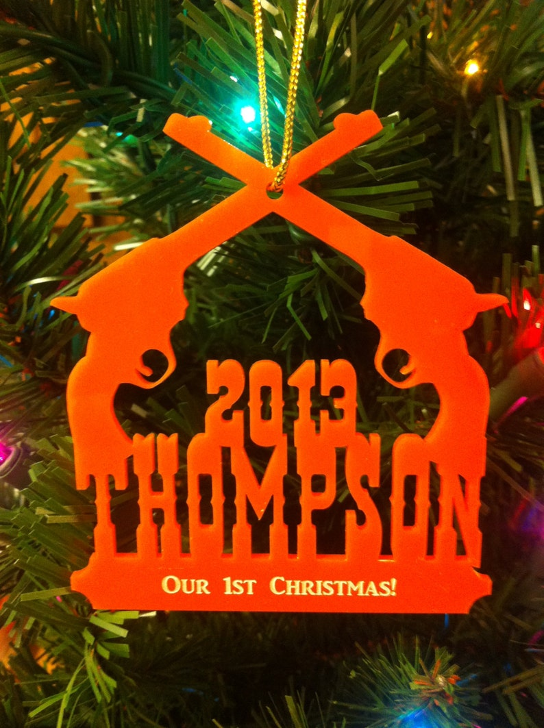 Personalized Custom Acrylic Our First Christmas Ornament image 0