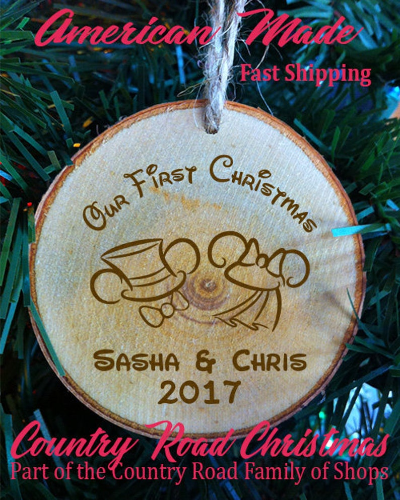 153b502f1415 Personalized Our First Christmas Mickey and Minnie Mouse