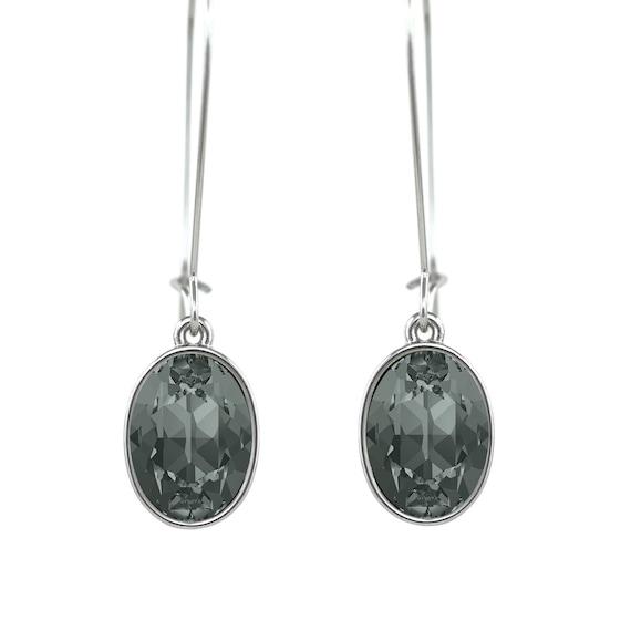 Handmade puzzle Rhodium Plated Earrings