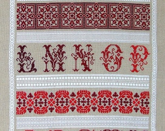 Peacock Band Sampler PDF chart by Northern Expressions | Etsy