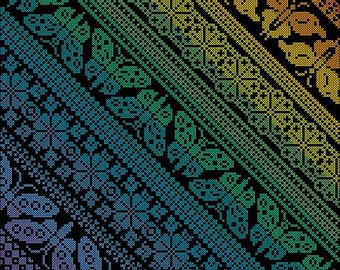 Peacock Band Sampler Cross Stitch Version PDF by Northern | Etsy