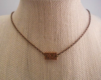 Delicate Copper or Silver Necklace   Copper Necklace   Dainty Necklace   Minimalist Necklace   Silver Necklace   Layering Necklace - N-93