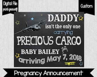 Airplane Pregnancy Announcement - Precious Cargo Pregnancy Announcement - Pilot - Every Pilot Needs - Airplane Pregnancy Announcement