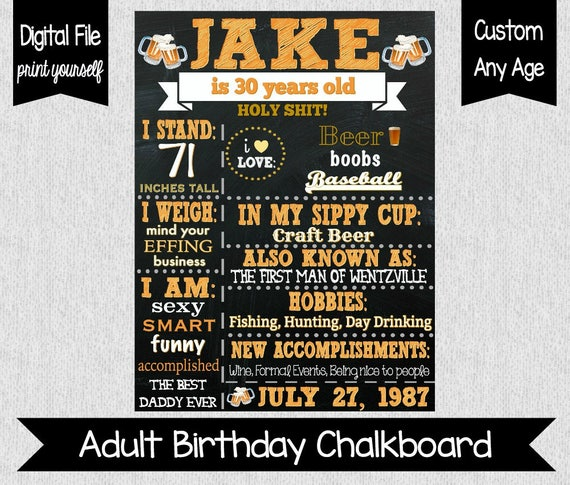 Adult sexy funny birthday invitations for men
