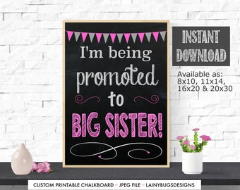 Big Sister Pregnancy Announcement - Digital - Instant Download - Not Personalized - Pregnancy Announcement - Big Sister To Be - Big Sister