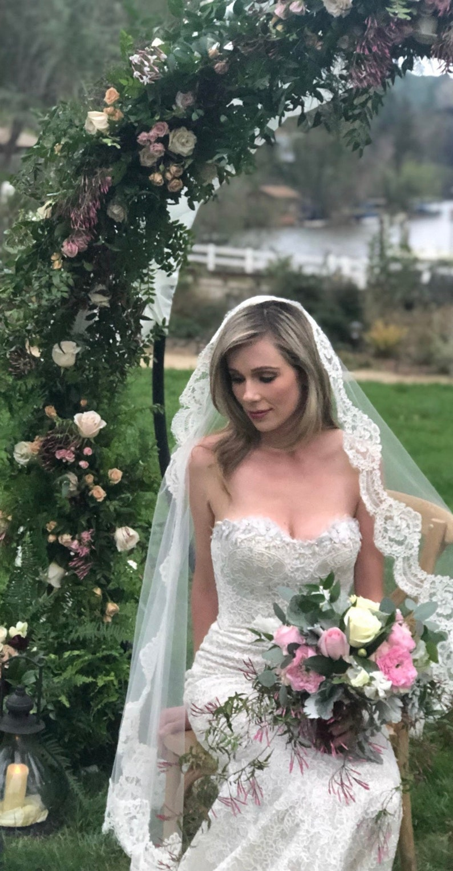 Mantilla Bridal Veil Classic Veil Alencon Lace Waltz image 0